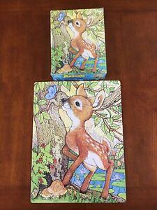 Vintage Golden Rascals Jigsaw Puzzle, Deer & Butterfly, 1982, 4616E-32