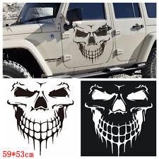 BLACK Skull Car Hood Decal Vinyl Large Graphic Sticker SUV Truck Tailgate Window