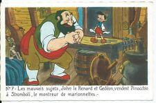 CPA - Postkarte - walt disney - Edition Superluxe Pinocchio Nr. 7 - Postkarte