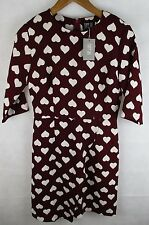 Ladies Poppy Lux - Heart Dress - Wrap over Style - UK Size 10   NWT  (No 1)
