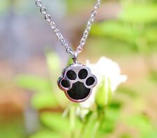 Pet Cremation Jewelry Necklace Pendant Urn Holds Ash Paw Print Dog Cat Memorial