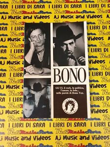 BOOK LIBRO BONO VOX U2 rock politica amore fede 1991 GAMMALIBRI no lp dvd cd mc