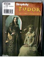 Simplicity 4508 Tudor Renaissance Gown Costume Gown Pattern / Uncut 8 10 12 14
