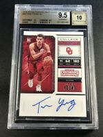 TRAE YOUNG 2018 PANINI CONTENDERS #56 DRAFT AUTO ROOKIE RC BGS 9.5 10