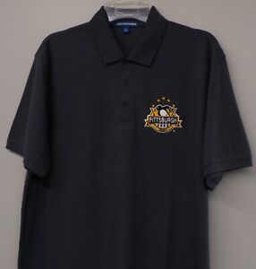Pittsburgh Penguins 1967 5 Stanley Cups Mens Embroidered Polo XS-6X, LT-4XLT New