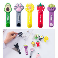 Cute Cartoon Earphone Wires Wrap Winder Manager Cable Straps Saver