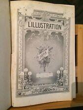 L'illustration supplément musical 1895 partition chant piano volume relié