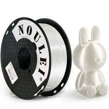 Noulei 1.75mm Shiny PLA Filament 1kg 2.2lb for 3D Printer Silk White