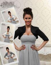 Satin Bolero Shrug Jacket Cardigan Short Sleeve Wedding Bridal Bridesmaid UK