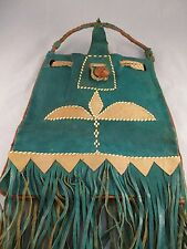 Native Western Style Leather Fringed Tote Bag - Crafts - Rustic Art  Collectable