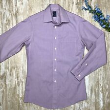 Joseph & Feiss FITTED - Mens 14.5 32/33 - Non Iron Cotton Dress Shirt - Purple