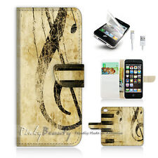( For iPhone 5 / 5S / SE ) Wallet Case Cover! Music Piano P0363