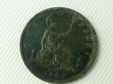 (ref165DA 16) Victorian 1862 Penny Coin