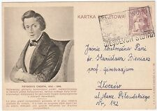 POLAND LWOW LEMBERG CHOPIN MUSIC COMPOSER ILLUSTRATED POSTAL STATIONERY CARD !