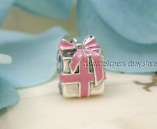Pandora WRAPPED WITH LOVE Pink Gift Charm 791132EN24 NEW Authentic Retired