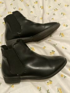 Black Chelsea Ankle Boot Size 4 wide fitting EEE