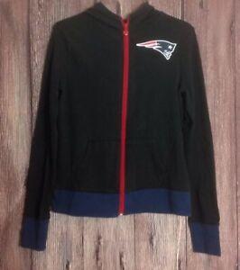 Girl's NFL Team Apparel New England Patriots Full Zip Jacket Sz 12/14 Sweatshirt