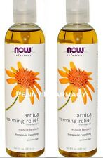 NOW Foods ARNICA Warming Relief Massage Oil 8oz ( 2 bottles )
