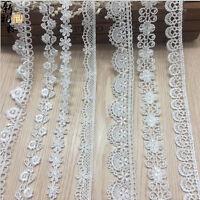1/5/10Yd Vintage Cotton Crochet Lace Trim Wedding Bridal Ribbon Sewing Craft New