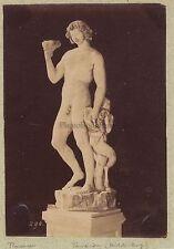 Faune sculpture de Michel-Ange Florence Italie Vintage albumine ca 1875