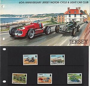 Jersey Post Office: 60th Anniversary jersey Motor-Cycle & Light Car Club Stamps