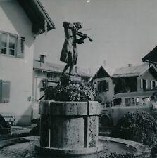SANKT GILGEN c. 1953 - Fontaine Statue de Mozart Autriche - NV 283