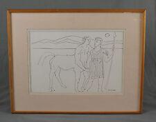 VINTAGE figurine schizzo Chiron Centaur da Derek INWOOD 1925-2012
