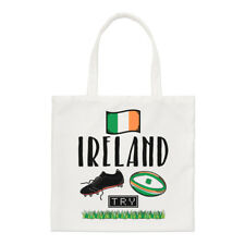 Rugby Ireland Small Tote Bag - Funny League Union Shamrock Flag Shoulder