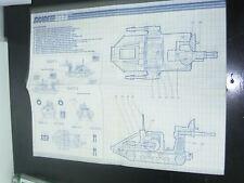 G.I. GI Joe 1987 BF 2000 BATTLE FORCE SKY SWEEPER INSTRUCTIONS BLUE PRINTS