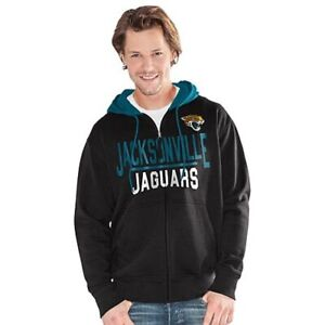 NFL Jacksonville Jaguars Officially Licensed Men's Full Zip Hoodie G-III Black