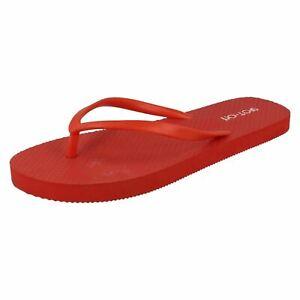Ladies Spot On Toe Post 'Flip Flops'