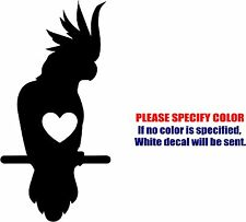 Vinyl Decal Sticker - Cockatoo Love Parrot Bird Car Truck Bumper JDM Fun 7""
