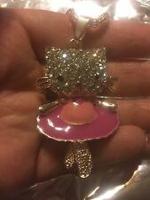 NWT BETSEY JOHNSON BALLERINA CAT SWEATER NECKLACE