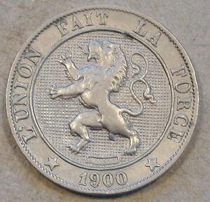 Belgium 1900/891? 5 Centimes Better Circulated Grade Des Belges