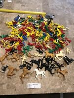 Huge Lot Of , Processed Plastics riding Cowboys and Indians Vintage