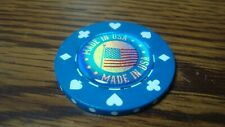 MADE IN USA Holographic 3D Flag image Poker Chip Golf Ball Marker Card Guard