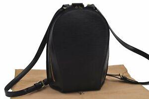 Authentic Louis Vuitton Epi Mabillon Backpack Black M52232 LV E3011