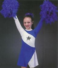 TEAM SPIRIT Cheerleader Dance Costume Child XS -  2-3 Yr Old