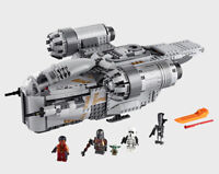 1023PCS MOC Razor Crest Building Blocks Bricks Figures Model Toy Set New