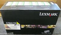 Genuine Yellow Lexmark C792A1YG Toner Cartridge (C792, X792) - NEW SEALED