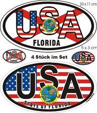 4 estados unidos distintivos florida auto Caravan SUV Boot autobús portátil sticker