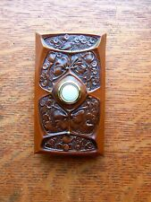 "New Craftsman ""Gingko"" Arts & Crafts Doorbell Button"