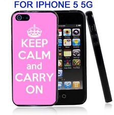 Pink Keep Calm and Carry On For Iphone5 5G Case Cover