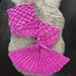 Mermaid Tail Blanket Brand Moda Up Pink Acrylic Knit Cute & Cozy!