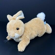 Vintage Eden Toys Bunny Rabbit Plush Tan Lifelike Realistic White Ears Stuffed