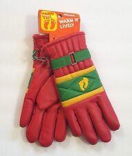 Hang Ten - Vintage - Misses - Winter Gloves/Mittens - Red/Green - Size 7