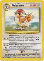 Pidgeotto Rare Pokemon Card Base Set Unlimited English 22/102