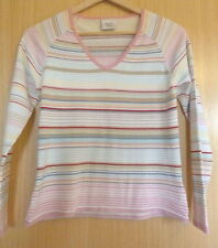 Next Cotton Blend Striped Long Sleeve Women's Jumpers & Cardigans
