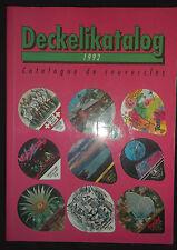 Catalogue d'opercules de lait, de crème à café  Deckelikatalog -1992 - couvercle