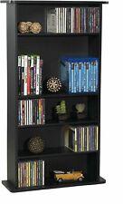 Adjustable 5-Shelf Wood Bookcase Storage Shelving Book Wide Bookshelf Furniture